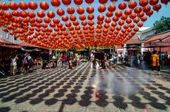 GEORGETOWN ÅR för DAG för PENANG-/MALAYSIA—MÅNAD: Kinesisk lykta de Royaltyfri Bild