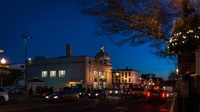 Georgetown bij Nacht in Washington DC Stock Afbeelding