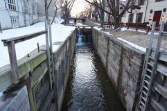 Georgetown C&O Canal in Winter Stock Images