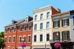 Georgetown dziejowe gromadzkie fasady Waszyngtońskie obrazy stock