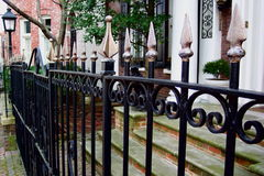 Georgetown Fence. Photo of iron fence in the Georgetown section of Washington D.C Royalty Free Stock Photo