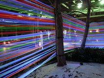 Georgetown Glow Ribbon Exhibit at Night Royalty Free Stock Photos