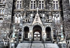 Georgetown Healy Hall Royaltyfria Foton