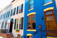 Georgetown historical district facades Washington Stock Images