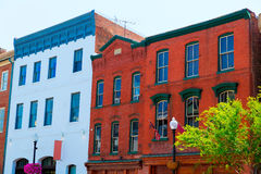 Georgetown historical district facades Washington Royalty Free Stock Photography
