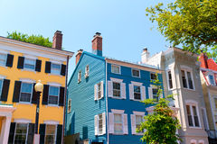 Georgetown historical district facades Washington Royalty Free Stock Image