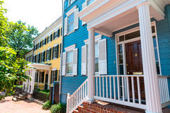 Georgetown historical district facades Washington Stock Image