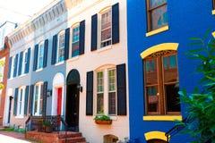 Georgetown historiska områdesfasader Washington Royaltyfria Foton