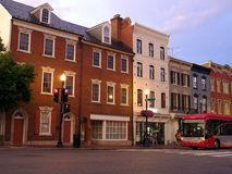 Georgetown mainstreet stock photography