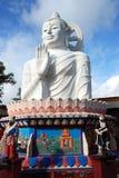 Georgetown, Malaysia: Buddha branco gigante Fotografia de Stock