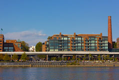 Georgetown Park waterfront on a warm evening in late autumn. Royalty Free Stock Photography