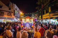 Georgetown,Penang.Malaysia – CIRCA JAN 2016:Devotees celebrate d Stock Photography