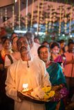 Devotees seeking blessing during Thaipusam Festival. GEORGETOWN, PENANG/MALAYSIA – CIRCA JAN 2016: Devotees seeking blessing during Thaipusam Festival Stock Photo