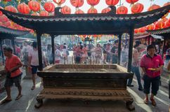 GEORGETOWN, PENANG/MALAYSIA – MONTH DAY YEAR: Chinese celebrate Royalty Free Stock Photos