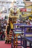 GEORGETOWN, PENANG/MALAYSIA ï ¼  8 de julio de 2016: Performanc de la danza de león Imagen de archivo