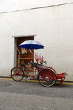 Georgetown, Penang, Malaysia - April 18, 2015: Classic local rickshaw in George Town, Penang in Malaysia stock photo