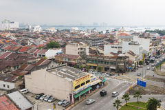 GEORGETOWN, PENANG, MALAYSIA-AUGUST 9, 2015 bird eye view of cit Royalty Free Stock Images