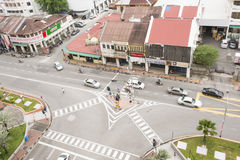 GEORGETOWN, PENANG, MALAYSIA-AUGUST 9, 2015 bird eye view of int Royalty Free Stock Images