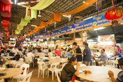 GEORGETOWN, PENANG, MALAYSIA-AUGUST 9, 2015 a lot of people in f Stock Photos