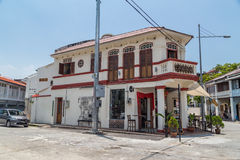 Georgetown, Penang/Malaysia - circa October 2015: Old houses and streets of Georgetown, Penang,  Malaysia Stock Photography