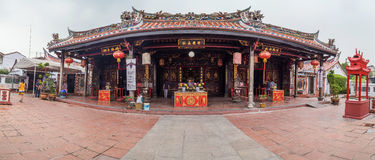 Georgetown, Penang/Malaysia - circa October 2015: Panorama of Cheng Hoon Teng chinese buddhist temple in Georgetown, Penang Stock Photos