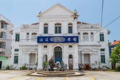 Georgetown Penang/Malaysia - circa Oktober 2015: Cathayhotel i Georgetown, Penang, Malaysia royaltyfri foto
