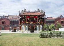 Georgetown Penang, Malaysia - December 14, 2015: Fasaden av Cheah Kongsi, Georgetown, Malaysia Arkivbild