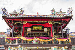 Georgetown Penang, Malaysia - December 14, 2015: Fasaden av Cheah Kongsi, Georgetown, Malaysia Arkivfoton