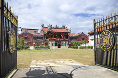 Georgetown, Penang, Malaysia - 14. Dezember 2015: Die Fassade von Cheah Kongsi, Georgetown, Malaysia Stockbild