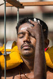 Georgetown, Penang, Malaysia - February 9, 2017 : Hindu devotee. Taking part in the Thaipusam festival on February 9, 2017 in Malaysia. Hindu festival to Stock Photo