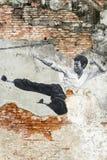 Georgetown Penang Malaysia Street Art Mural Bruce Lee royalty free stock images