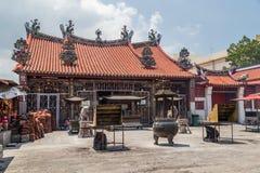 Georgetown, Penang/Maleisië - circa Oktober 2015: De boeddhistische tempel van Kuan Yin Chinese in Georgetown, Penang, Maleisië royalty-vrije stock foto
