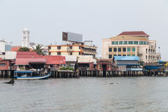 Georgetown, Penang/Malesia - circa ottobre 2015: Moli del clan a Georgetown, Penang, Malesia fotografia stock