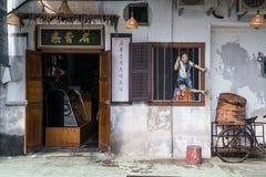 Georgetown, Penang/Malesia - circa ottobre 2015: Pitture di arte e dei graffiti della via sulle pareti della costruzione a vecchi Fotografia Stock Libera da Diritti
