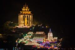 Georgetown Penang tempel Kek Lok Si arkivbild