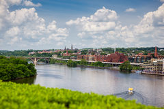 Georgetown from the Potomac River Royalty Free Stock Photography