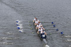 Georgetown races in the Head of Charles Regatta Men's Master Eights Stock Photo