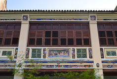 Georgetown Shophouse Facade Stock Images