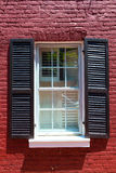 Georgetown townhouses window Washington DC Stock Photography