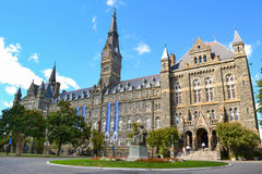 Georgetown University Campus. Healy Hall, the main building at Georgetown University. The Georgetown campus is located in Washington, DC royalty free stock images