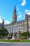 Georgetown University Campus in Washington DC. Main building on the Georgetown University campus. Georgetown is located in Washington, DC royalty free stock image