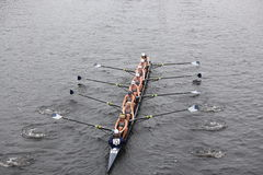 Georgetown University races in the Head of Charles Royalty Free Stock Photo