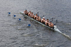 Georgetown University races in the Head of Charles Regatta Stock Photo