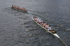 Georgetown University races in the Head of Charles Regatta Royalty Free Stock Photos