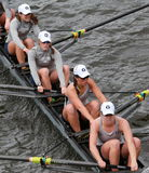 Georgetown University races in the Head of Charles Regatta Women's Championship Eights Stock Photo