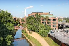 Georgetown, Washington. Washington DC, capital city of the United States. Post-industrial Canal Park in Georgetown district stock image