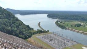 Georgië, Carter Lake, de brede mening van A van lager Carter Lake en het omringende platteland stock videobeelden