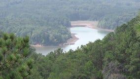 Georgië, Carter Lake, de brede mening van A van lager Carter Lake van overziet stock footage