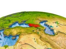 Georgië op model van Aarde Royalty-vrije Stock Afbeeldingen