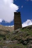 Georgië, Svaneti-torens in bergen Stock Afbeeldingen